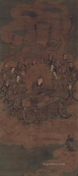 daoist deity of heaven Wu Daozi traditional Chinese Oil Paintings