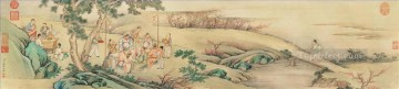 night party antique Chinese Oil Paintings