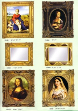 frcn006 corner flower oil painting frame Oil Paintings
