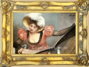 WB 108 antique oil painting frame corner Oil Paintings
