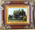 WB 220 antique oil painting frame corner