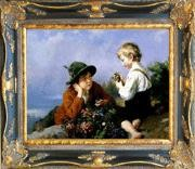 Antique Corner Frame Painting - WB 223 antique oil painting frame corner
