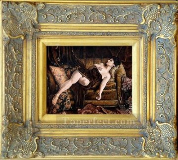WB 28 antique oil painting frame corner Oil Paintings
