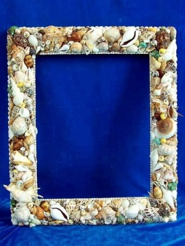 Frame Painting - SM102 FR 017 5by7inch shell frame box