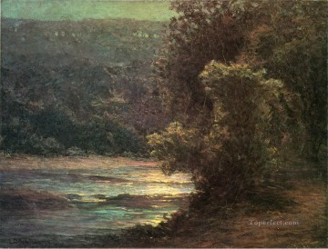 John Ottis Adams Painting - Moonlight on the Whitewater landscape John Ottis Adams