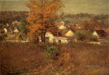 John Ottis Adams Painting - Our Village landscape John Ottis Adams