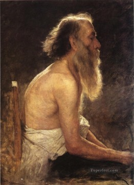 st Oil Painting - Half Length Figure Study John Ottis Adams