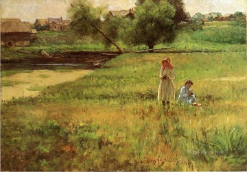 Summertime landscape John Ottis Adams Oil Paintings