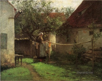 Wash Day Bavaria landscape John Ottis Adams Oil Paintings