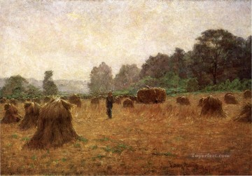 John Ottis Adams Painting - Wheat wain Afield landscape John Ottis Adams