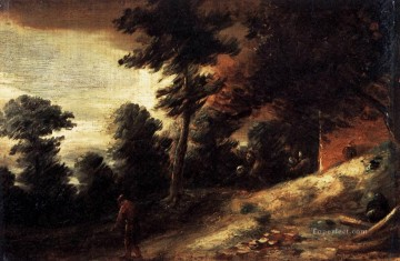 baroque Painting - twilight landscape Baroque rural life Adriaen Brouwer