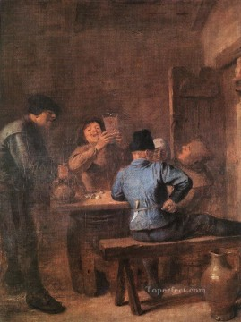 in the tavern 1 Baroque rural life Adriaen Brouwer Oil Paintings