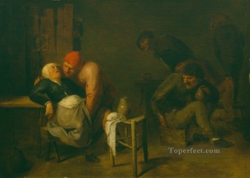 baroque Painting - peasant inn Baroque rural life Adriaen Brouwer