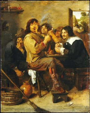 Adriaen Brouwer Painting - the smokers 1 Baroque rural life Adriaen Brouwer