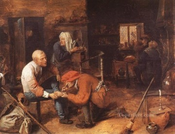 operation on foot Baroque rural life Adriaen Brouwer Oil Paintings