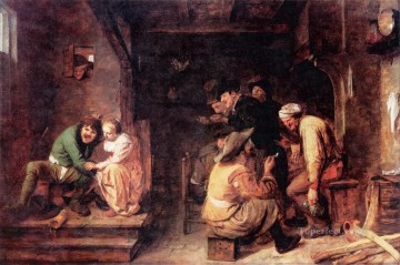 tavern scene Baroque rural life Adriaen Brouwer Oil Paintings