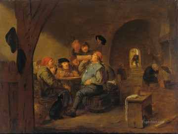 drinking - the master of drinking Baroque rural life Adriaen Brouwer