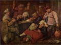 inn with drunken peasants Baroque rural life Adriaen Brouwer