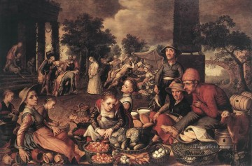 Christ And The Adulteress Dutch historical painter Pieter Aertsen Oil Paintings
