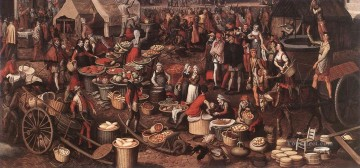Market Scene 4 Dutch historical painter Pieter Aertsen Oil Paintings