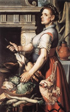 Cook Art - Cook In Front Of The Stove Dutch historical painter Pieter Aertsen