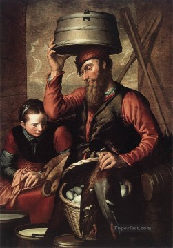 st Oil Painting - Vendor Of Fowl Dutch historical painter Pieter Aertsen