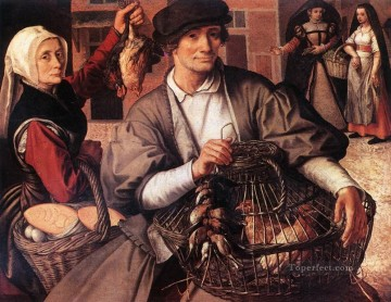 Artworks by 350 Famous Artists Painting - Market Scene 3 Dutch historical painter Pieter Aertsen