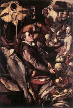 Artworks by 350 Famous Artists Painting - Market Scene 2 Dutch historical painter Pieter Aertsen