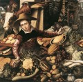 Market Woman With Vegetable Stall Dutch historical painter Pieter Aertsen