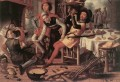 Peasants By The Hearth Dutch historical painter Pieter Aertsen