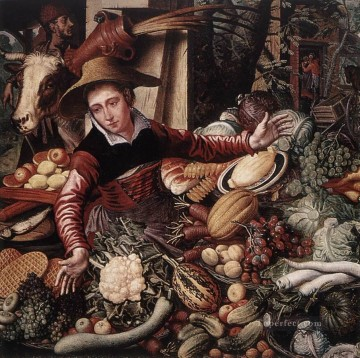 Vendor Of Vegetable Dutch historical painter Pieter Aertsen Oil Paintings