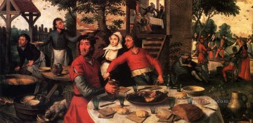 Aersten Pieter Peasant s Feast Dutch historical painter Pieter Aertsen Oil Paintings