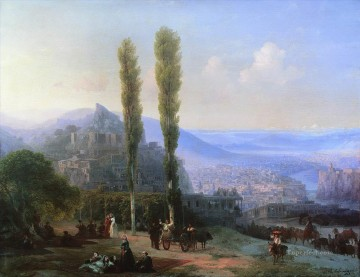 view of tiflis 1869 Romantic Ivan Aivazovsky Russian Oil Paintings