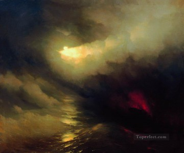 creation of the world 1864 Romantic Ivan Aivazovsky Russian Oil Paintings