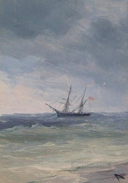 romantic romantism Painting - sailingboat in green water Romantic Ivan Aivazovsky Russian