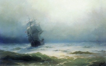 1899 Painting - the tempest 1899 Romantic Ivan Aivazovsky Russian
