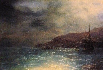 Artworks by 350 Famous Artists Painting - Nocturnal Voyage seascape Ivan Aivazovsky