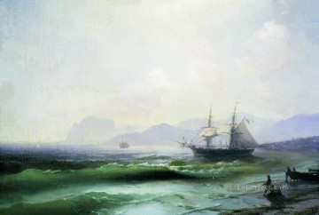 agitated sea 1877 Romantic Ivan Aivazovsky Russian Oil Paintings