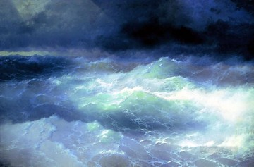 wave Art - between the waves 1898 Romantic Ivan Aivazovsky Russian