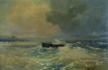 boat - boat at sea 1894 Romantic Ivan Aivazovsky Russian