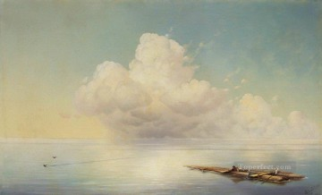 cloud over the calm sea 1877 Romantic Ivan Aivazovsky Russian Oil Paintings