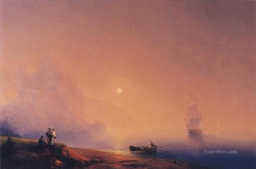 romantic romantism Painting - crimean tartars on the sea shore 1850 Romantic Ivan Aivazovsky Russian