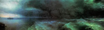from the calm to hurricane 1892 Romantic Ivan Aivazovsky Russian Oil Paintings