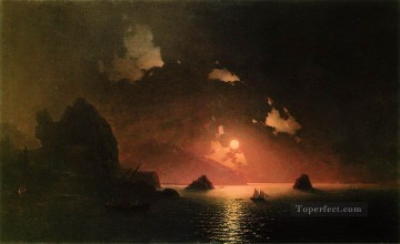 gurzuf night 1849 Romantic Ivan Aivazovsky Russian Oil Paintings