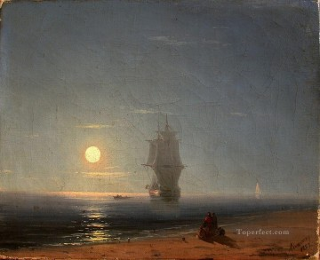 romantic romantism Painting - lunar night 1857 Romantic Ivan Aivazovsky Russian