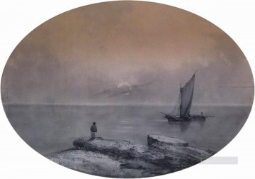 Ivan Konstantinovich Aivazovsky Painting - on the sea Romantic Ivan Aivazovsky Russian
