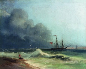 romantic romantism Painting - sea before storm 1856 Romantic Ivan Aivazovsky Russian