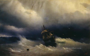 sea boat Romantic Ivan Aivazovsky Russian Oil Paintings