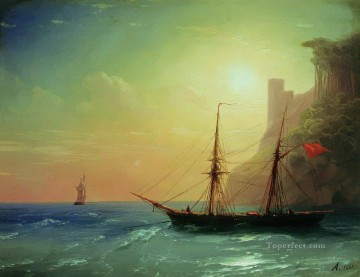 romantic romantism Painting - sea coast 1861 Romantic Ivan Aivazovsky Russian