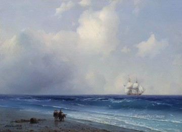 sea view 1865 Romantic Ivan Aivazovsky Russian Oil Paintings